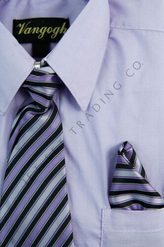 Toddler Lilac Dress Shirt with Matching Tie /& Hankie Long Sleeves Sizes 2T,3T,4T