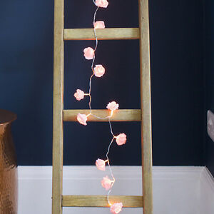 20-Pink-Rose-Flower-Battery-Operated-Warm-White-LED-Bedroom-Fairy-String-Lights