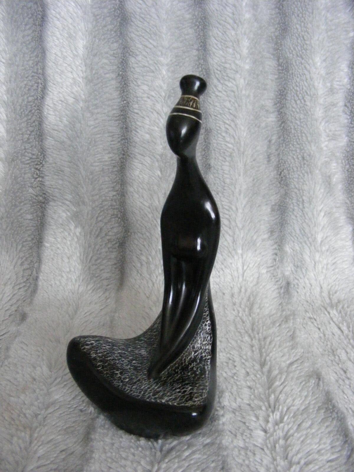 Art 50's Cmielow Cmielow Cmielow  SUDANKA  Pottery Poland Henryk Jedrasiak African Girl Figurine fc9ecc