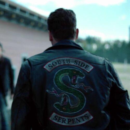 Homme Motard Riverdale Southside serpents Biker Gang Clovix Jones Veste Cuir
