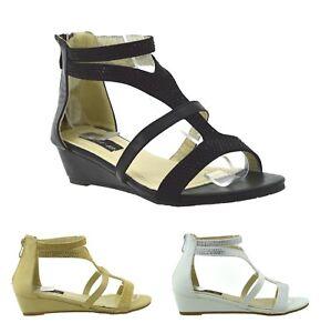 Caricamento dell immagine in corso Sandali-aperti-Gladiatore-Donna-eleganti- sexy-scarpe-basse- 442d9020a48