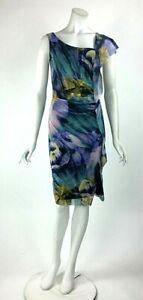 Womens-Empire-Sheath-Dress-Sleeveless-Knee-Length-Asymmetrical-Neck-XS-SM-NWT