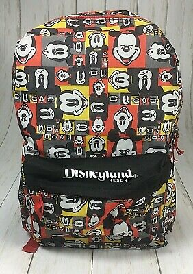 OFFICIAL DISNEY MICKEY MOUSE HIDING GREY AND RED BACKPACK BAG NEW