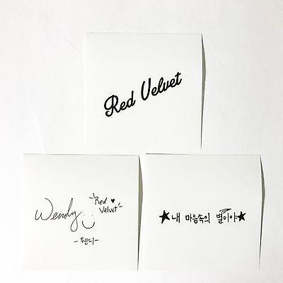 [Limited] SM TOWN [Love Season Message SUM Event] Red Velvet Wendy Sticker Set