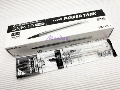 BK 10 pcs Uni-Ball Power Tank SNP-10 for SN-200PT Ballpoint Pen Refills 1.0mm