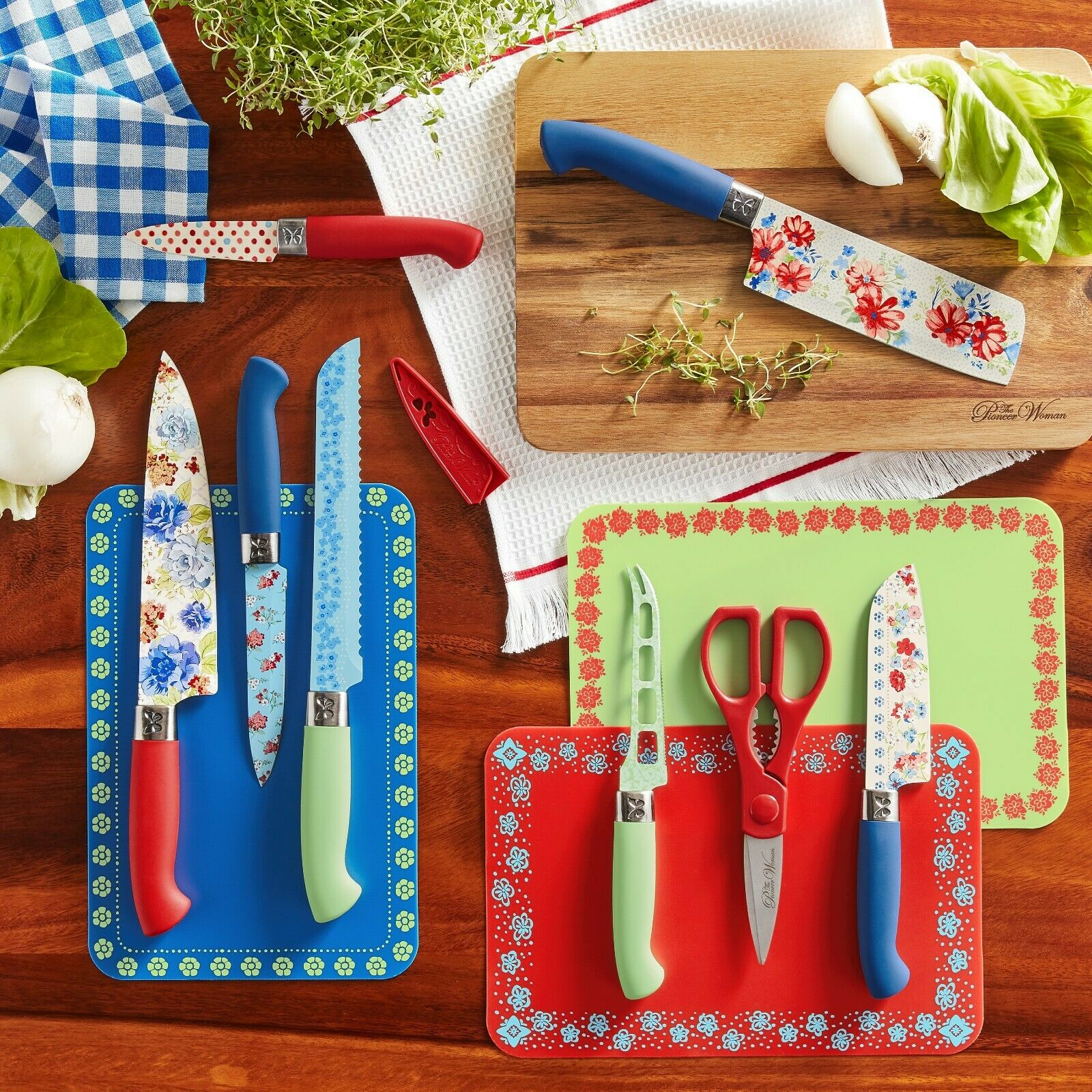 Kitchen Dining Bar The Pioneer Woman Dazzling Dahlias 20 Piece Gadget Set Home Garden Mod Ng