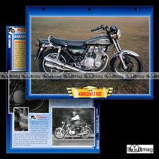 #080.02 Fiche Moto KAWASAKI 900 Z1 B (Z900) 1976 Motorcycle Card 川崎