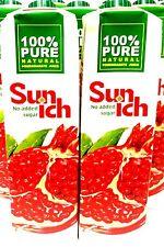 Sunich Granatapfelsaft 100% Fruchtsaft Granatapfel Grenadine Juice 1 Liter