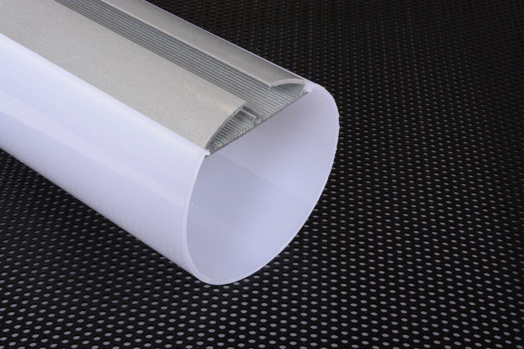 3m 3metri 6060B PROFILO TONDO TUBO GRANDE ALLUMINIO PER STRISCE STRIP LED 3MT
