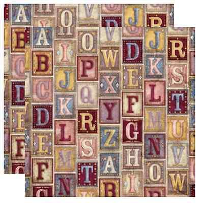 Storybook Letters Karen Foster Design 12x12 Scrapbook Paper