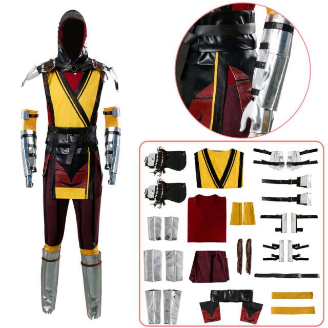Mortal Kombat X Scorpion Cosplay Costume Full set of uniforms Outfit