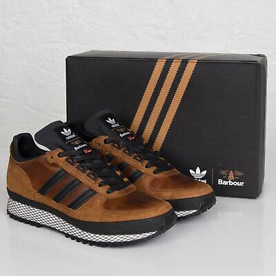 Adidas X Barbour TS Runner Leather Trainers Genuine Shoes Rare DEADSTOCK UK   eBay