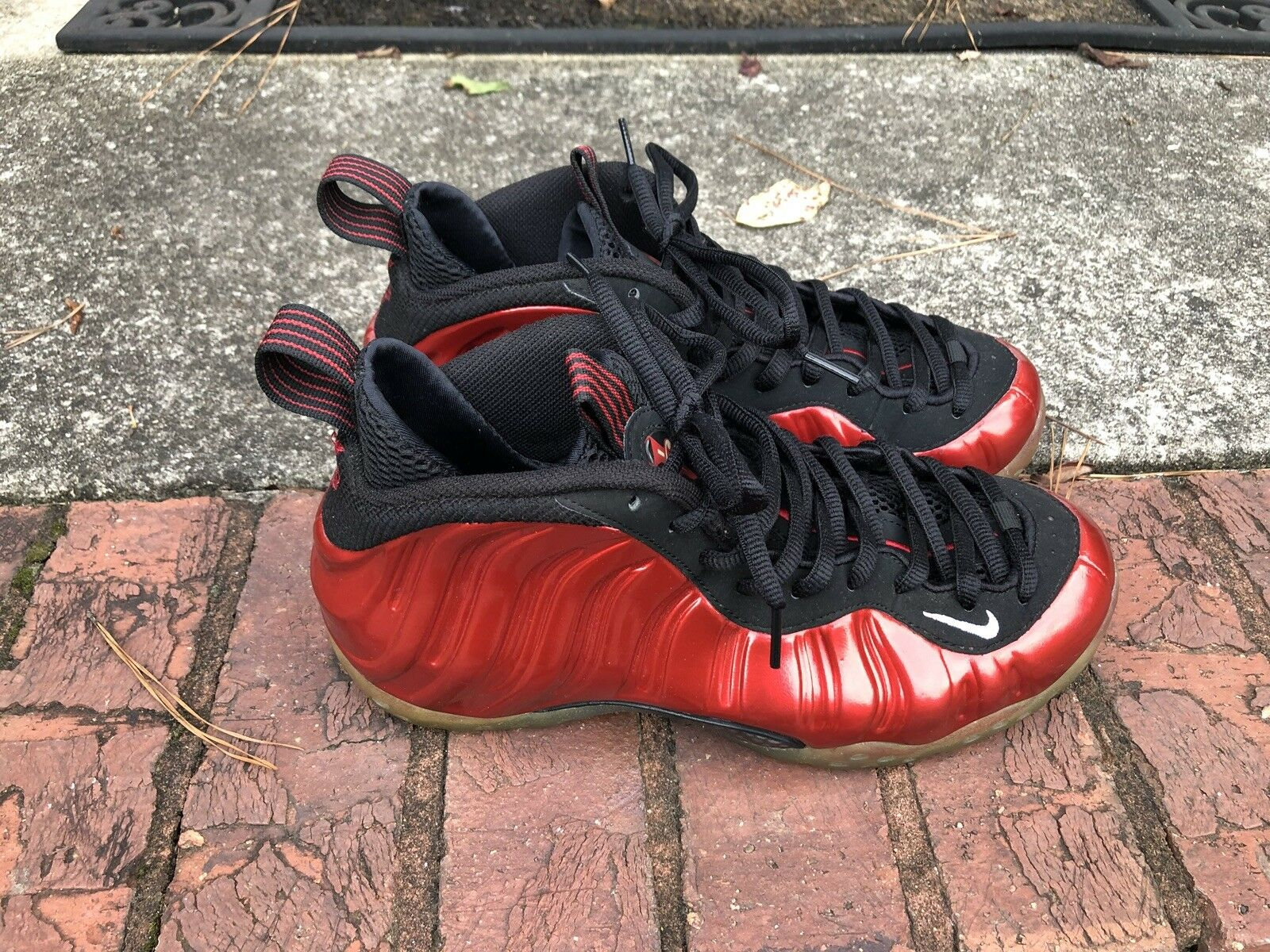 Nike Air Metallic Red Foamposite One Size 7
