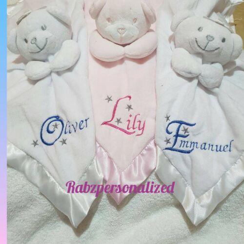 Edredón Manta de Bebé Suave Bordado Personalizado Oso De Peluche-Regalo de Bebé