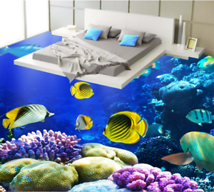 3D Sunlight Seabed 13 Floor Wall Paper Wall Print Decal Wall Deco AJ WALLPAPER