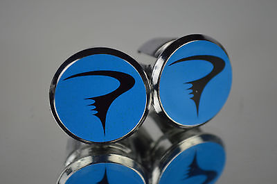 plug Bar End Caps vintage bouchons calotte new Somec blue Handlebar End Plugs