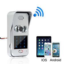 Wireless Wifi/IP Doorphone Video Unlock Camera Phone Intercom Doorbell+Track ES