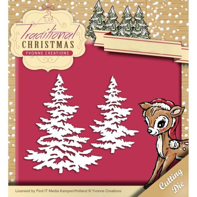 Snow Tree Metal Die Cut Pine Yvonne Creations Cutting Dies Christmas,winter