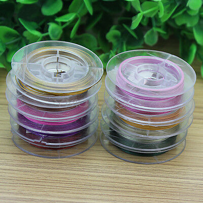 10 Rolls DIY Necklace Bracelet Copper Wire Cord Thread Jewelry Making Accessory