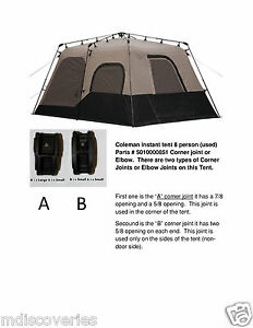 Image is loading Coleman-instant-tent-8-10-person-Parts-501000851-  sc 1 st  eBay & Coleman instant tent 8 10 person Parts # 501000851 (16-16-125 or ...