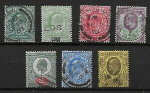 KEVII-1-2d-2-To-3d-A-Very-Fine-Used-Group-Good-Colours-amp-Perfs-Ref-0770