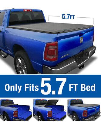Tri Fold Tonneau Cover For 2009 2018 Dodge Ram 1500 Crew Cab 5 7ft