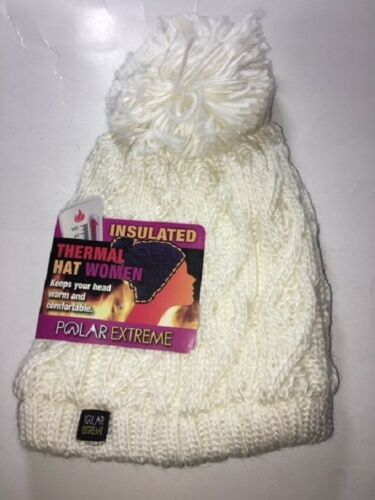 Women/'s Knit Hat with Pom Solid Color Insulated Thermal Womens Cable Knit Hat