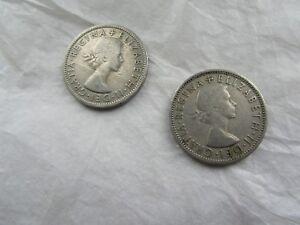 Elizabeth II 2 Shillings Coins 1955 1956 - Glasgow, Glasgow (City of), United Kingdom - Elizabeth II 2 Shillings Coins 1955 1956 - Glasgow, Glasgow (City of), United Kingdom