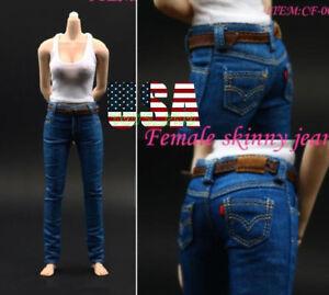 1/6 Female Tank Top Vest Skinny Jeans Pants Set For Phicen Hot Toys Figure ❶USA❶