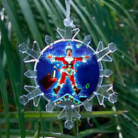 Christmas Vacation Movie Chevy Chase Snowflake Blinking Holiday Tree Ornament