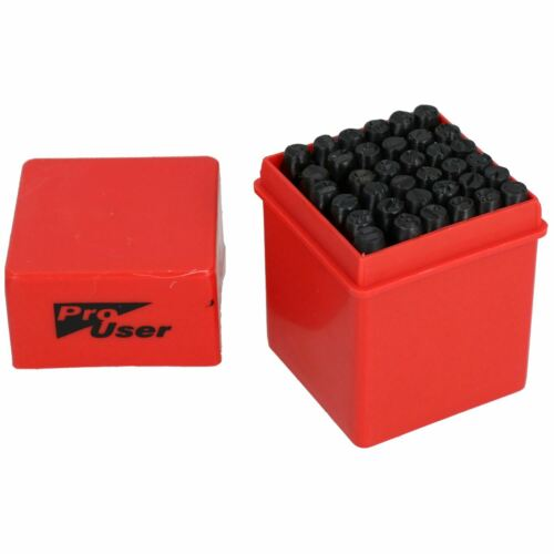 4 mm lettre et nombre Stamp Set métal bois marquage Punch timbres 36pc