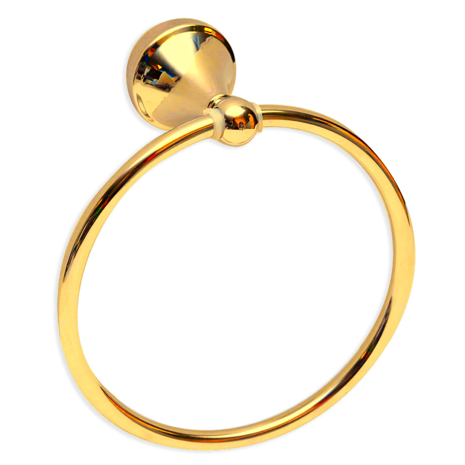 New Pure 24K gold Towel Ring pink by Enzo Barelli Bathroom Towel Holder Ring