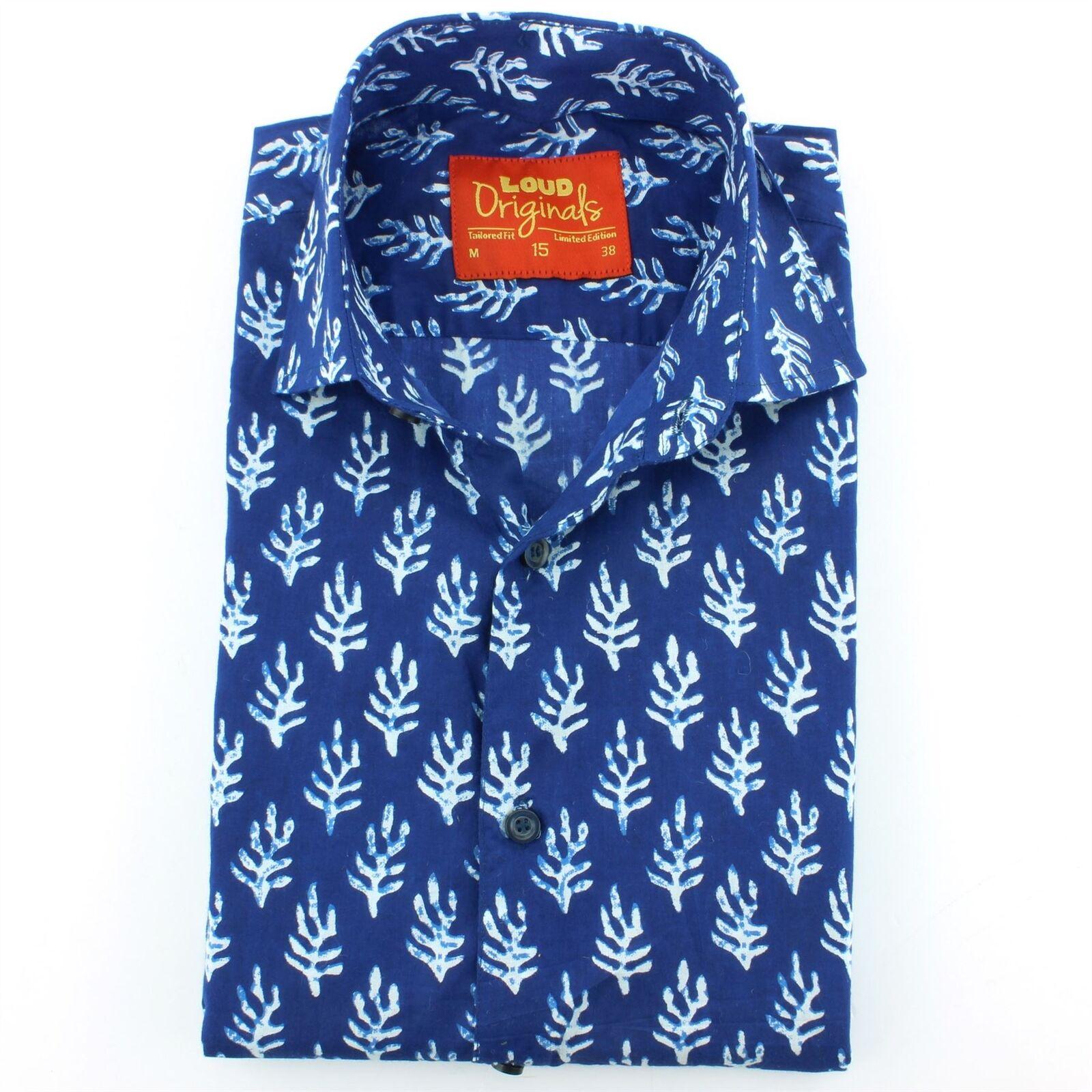 Mens Shirt Shirt Shirt Loud Originals TAILGoldt FIT Plant Blau Retro Psychedelic Fancy  | Moderate Kosten  | Neuankömmling  | Reichhaltiges Design  a3477b