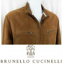 Men's BRUNELLO CUCINELLI Suede Leather Jacket SPRING Lined Bomber SZ S $5695