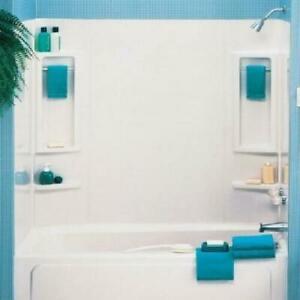 tub shower wall surround enclosure bathroom panels shelf