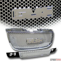 Chrome Round Hole Mesh Upper+lower Front Bumper Grill Grille 07-12 Yukon Denali on sale
