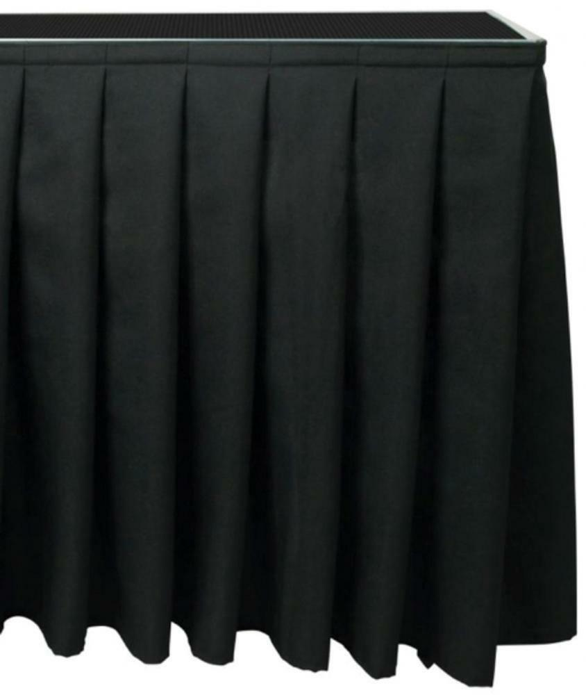 Citronic 853.969 Polyester 100 x 205cm Accessorie Skirt for Stage Platform - Blk