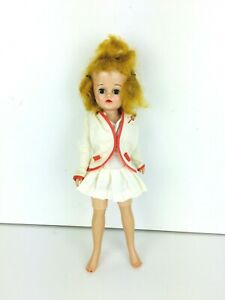 Vintage-1957-Vogue-Doll-Jill-Blonde-Hair-Blue-Eyes-Tennis-Outfit