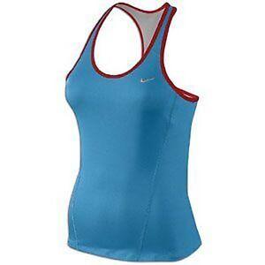 NWT-Nike-Women-039-s-DRI-FIT-SHAPING-Long-Running-Bra-Top-Size-L-Blue