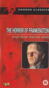 The-Horror-of-Frankenstein-1970-VHS-VIDEO-Ralph-Bates-Kate-O-039-Mara-David-Prowse