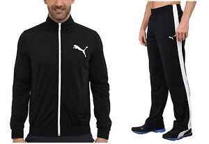 puma mens tracksuit. image is loading puma-mens-gym-contrast-tricot-black-white-tracksuit- puma mens tracksuit