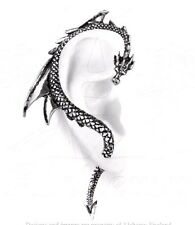 The Dragon's Lure Right Ear Wrap Pewter Silver Color Earring Alchemy Gothic E274