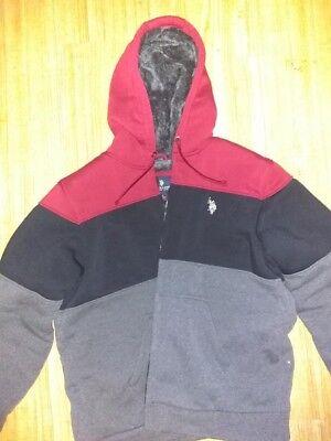 Mens Standard Sherpa Lined Hooded Windbreaker U.S Polo Assn