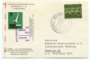 1960 Raketen Raumfahrttagung Deutschen Gesellschaft V. Hannover Hamburg Space