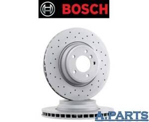 BOSCH-2X-BREMSSCHEIBEN-350-GELOCHT-VORDERACHSE-MERCEDES-E-KLASSE-S-KLASSE-500