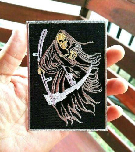 God of death Grim Reaper Dark Myth Satan symbol Embroidered Iron-On Sew-On patch