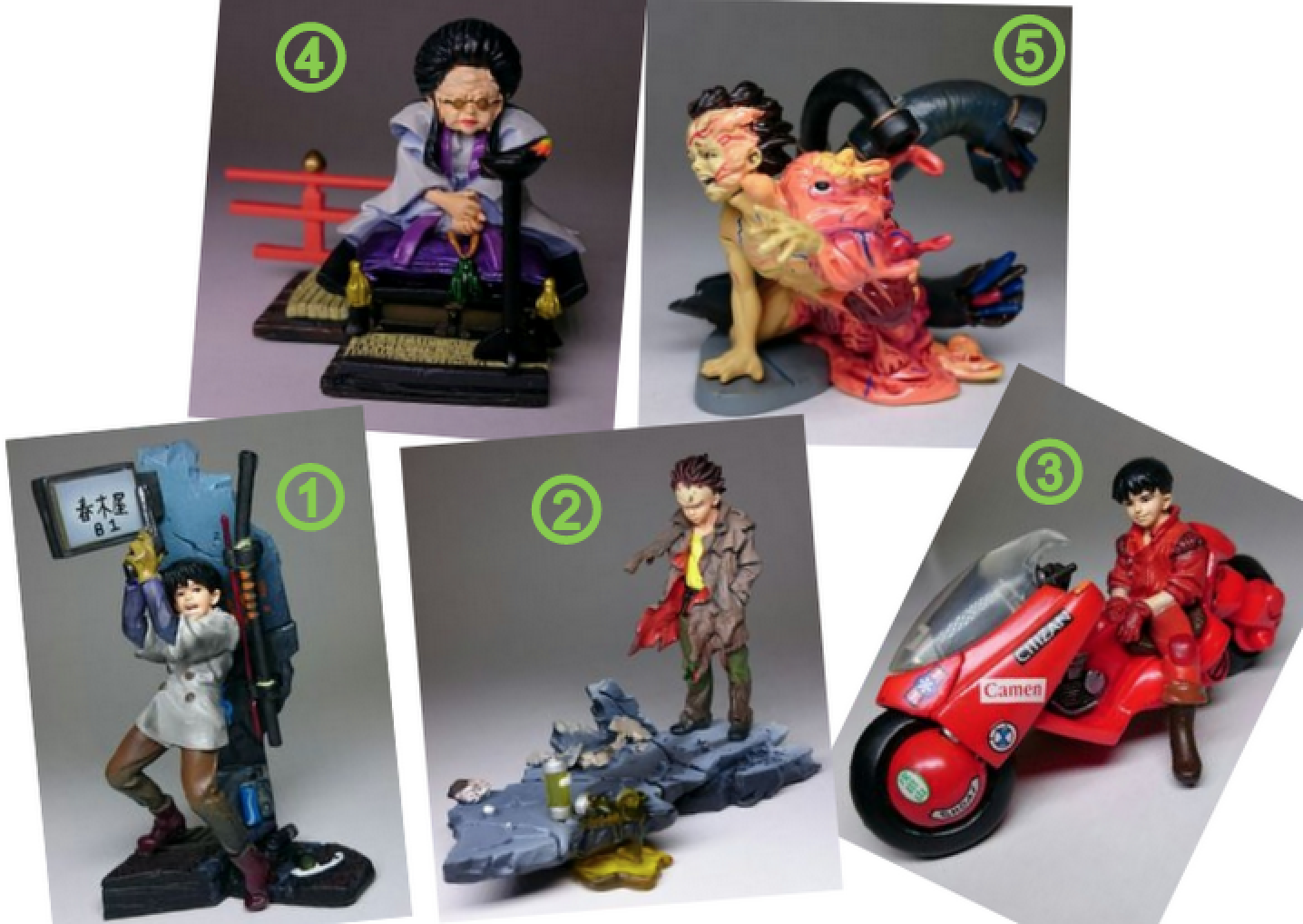 Akira - kaiyodo k & m hohe qualität wert series2 diorama gashapon