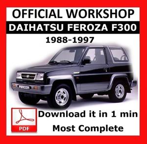 official workshop manual service repair daihatsu feroza f300 1988 rh ebay co uk daihatsu feroza manual de taller daihatsu feroza workshop manual