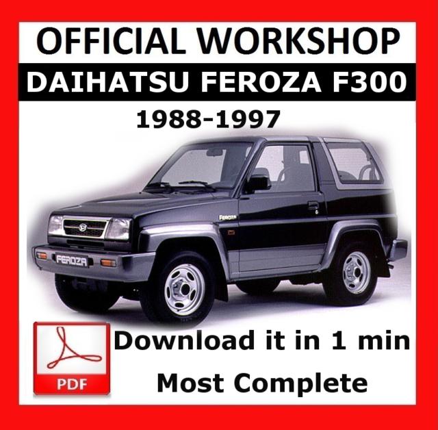 official workshop manual service repair daihatsu feroza f300 1988 rh ebay co uk F300 Foup HP F300 Driver