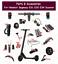 Handle-Controller-Dashboard-Charger-Brake-For-Ninebot-Segway-ES1-ES2-ES4-Parts thumbnail 1